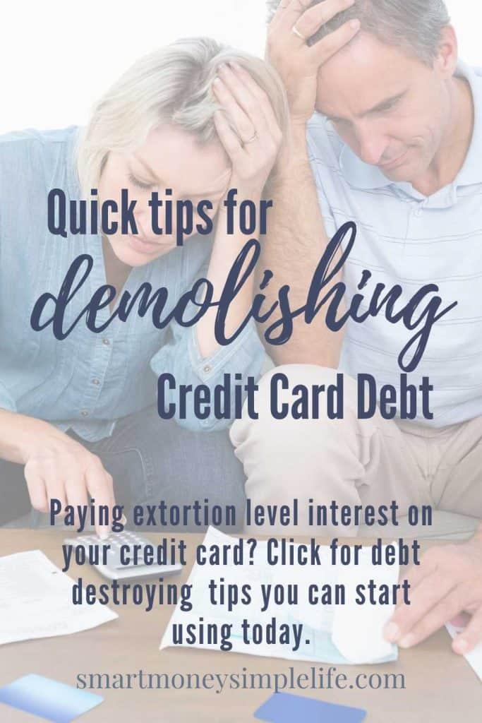 demolishing credit card debt