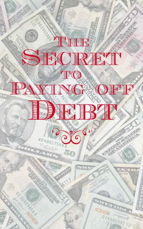 The secret to paying off debt is it using the debt snowball or debt avalanche method