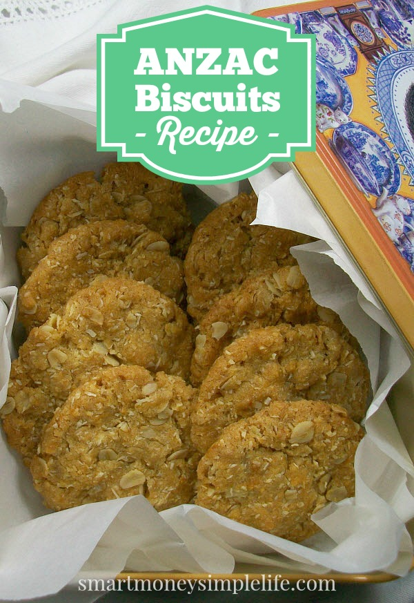 Frugal food anzac biscuit recipe