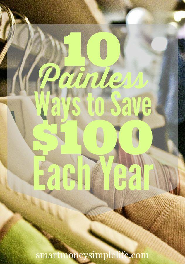 painless ways to save $100