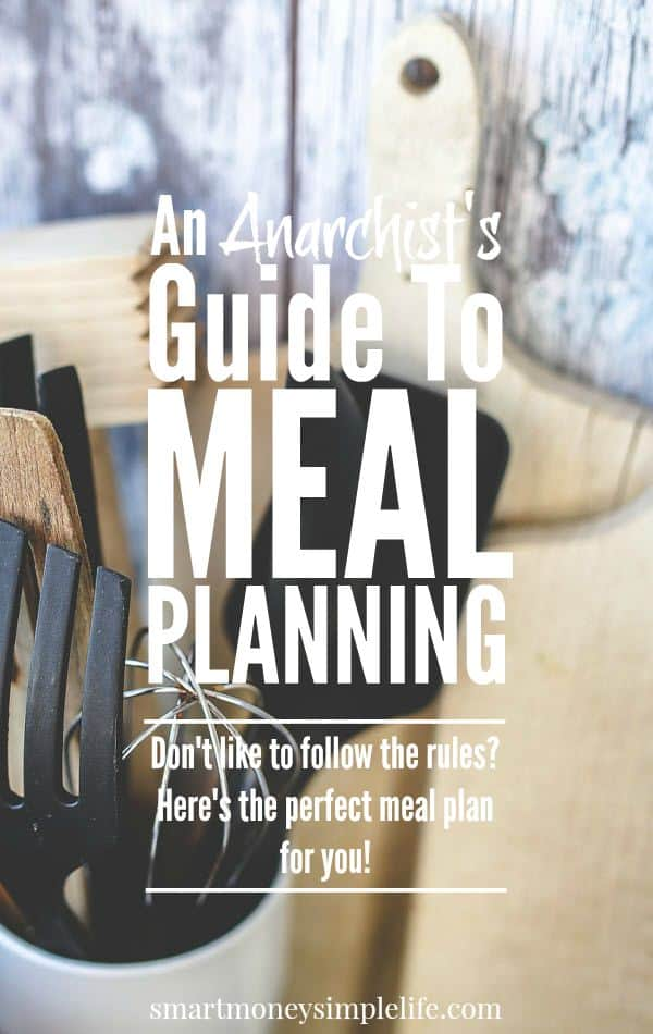 An anarchist's guide to menu planning