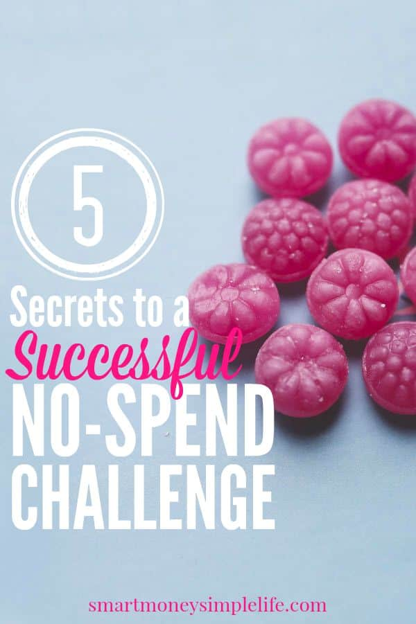 spending freeze - secrets to a no spend challenge