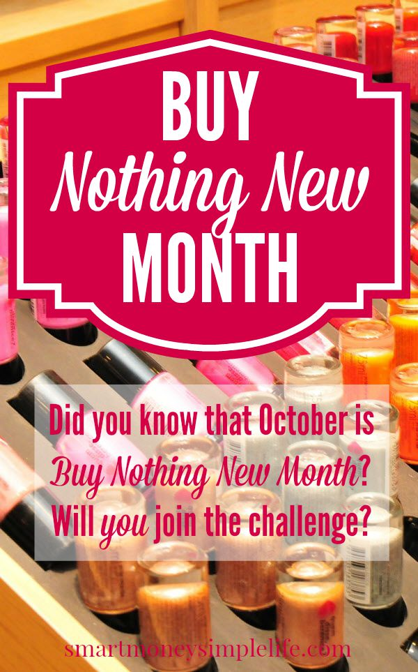 October is buy nothing new month. Will you accept the challenge and buy nothing new for the entire month.