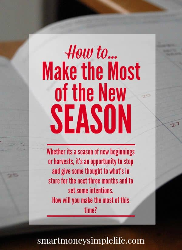 planning and goals - make the most of the new season