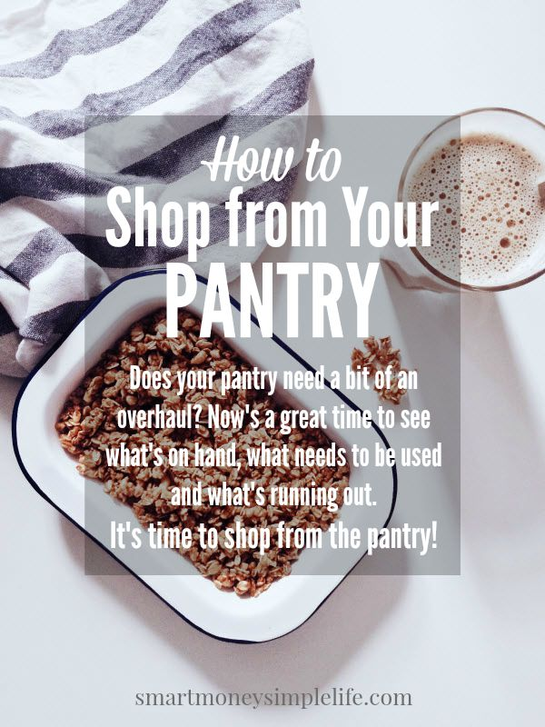 shop from your pantry