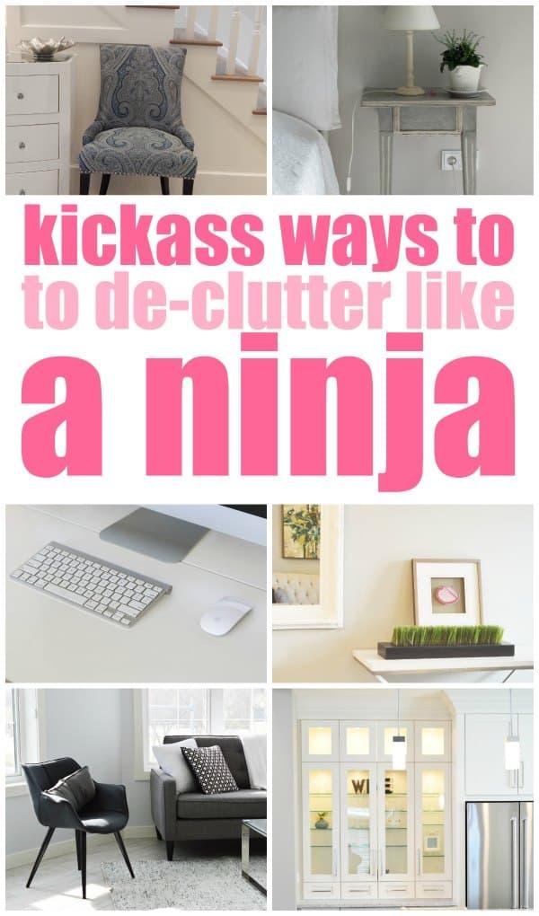 kickass ways to declutter