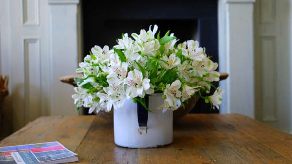 Thrifty ideas for cosy decoration includes indoor plants and fresh flowers