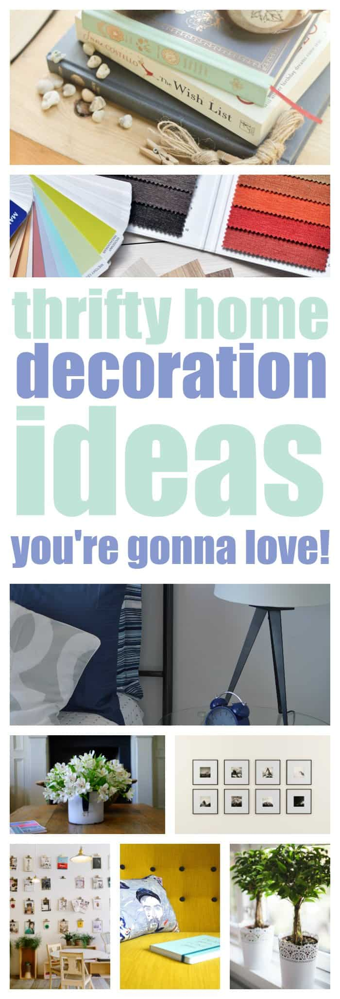 thrifty ideas for decorating your home