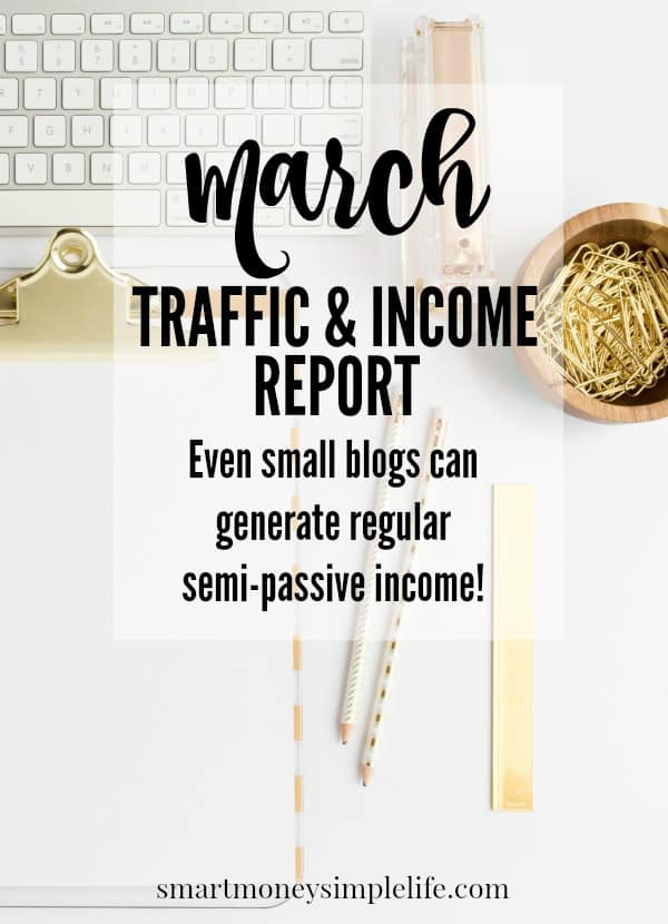 blog traffic and income report march