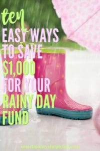 10 simple and easy ways to save $1000 per year.