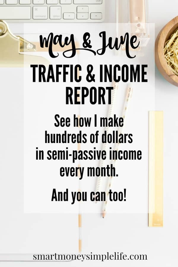 Blog traffic and income report. See how I'm making extra money each month.