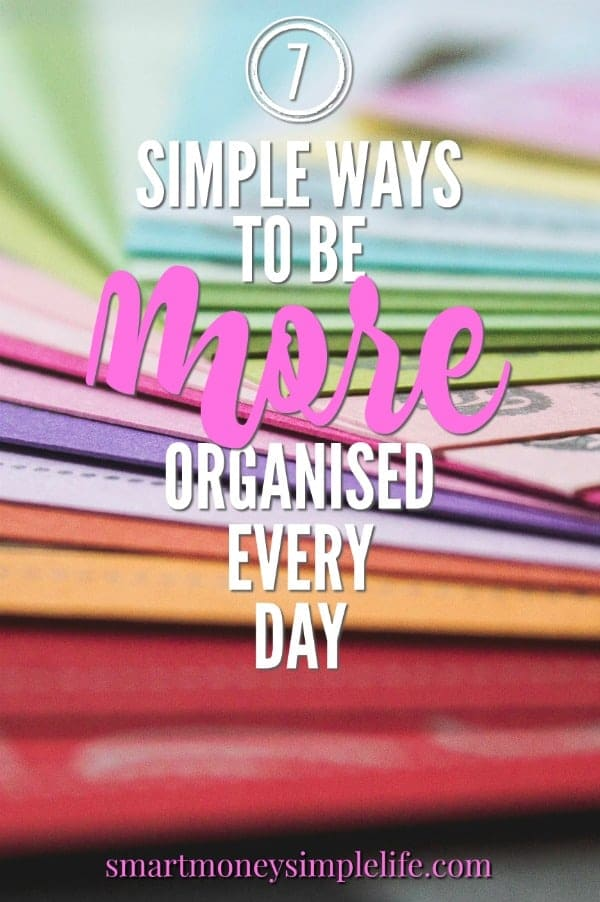 'Organised' is often synonymous with 'perfect'. Letting go of that misconception is a great way to begin the journey to being organized.