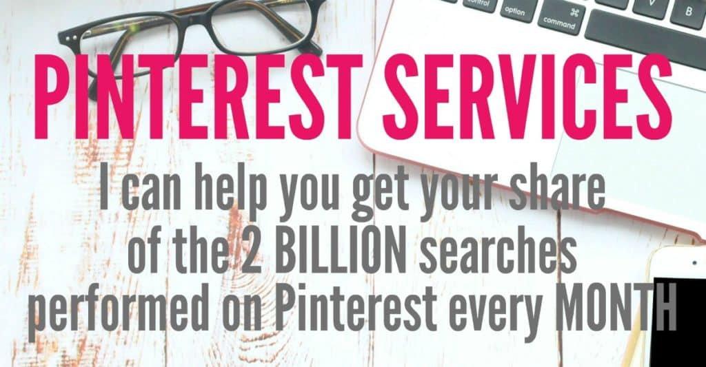 let me help you get your share of the 2 billion searches performed on Pinterest every month.