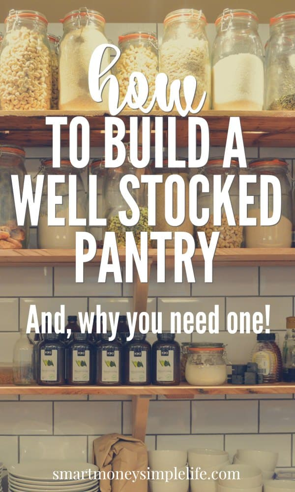 A well stocked pantry provides choices beyond just-in-time logistics. It also saves you money, time and headaches in an emergency.