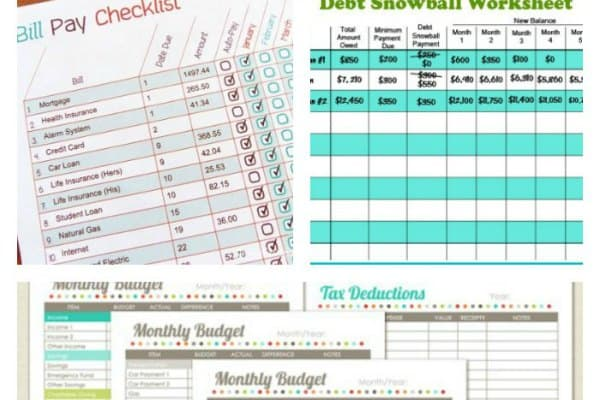 picture about Free Budget Planner Printables named 11 Free of charge Finances Printables In direction of Assist Buy Your Dollars Below