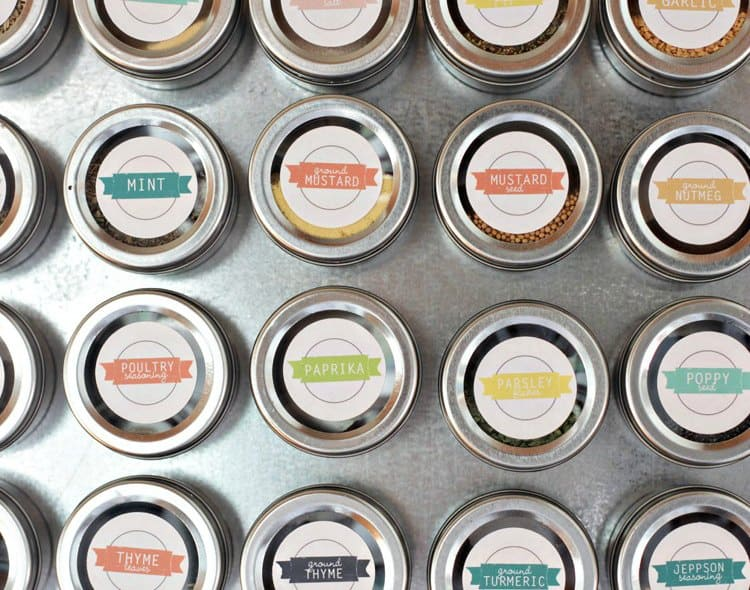 organize your pantry with magnets
