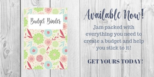 advertisement for budget binder available in the smart money simple life shop